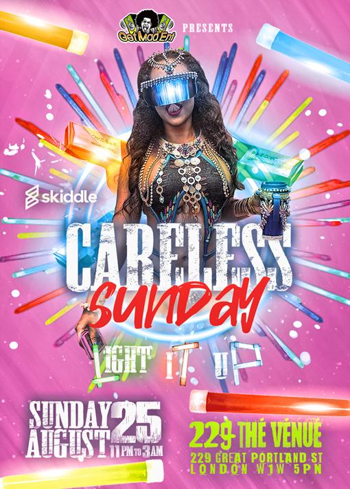 """Notting Hill Carnival 2019 - Careless Sunday """"Light It Up!"""""""