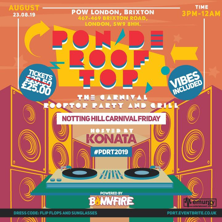 Pon De Rooftop 2019 - The Carnival Rooftop Party and Grill