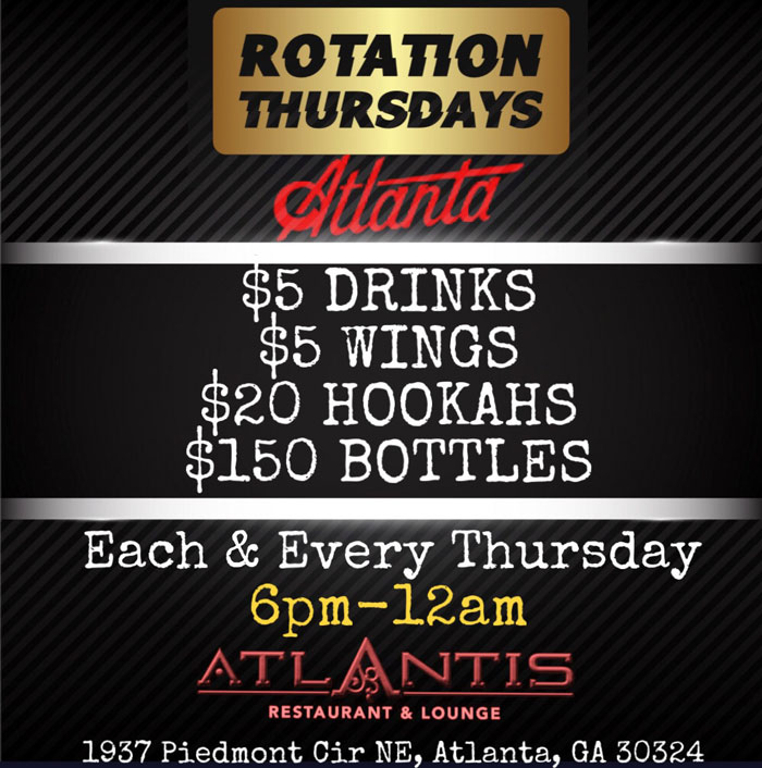Rotation Thursdays After-Work at Atlantis