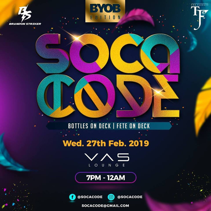 Soca Code - Bring Your Own Bottle (BYOB)