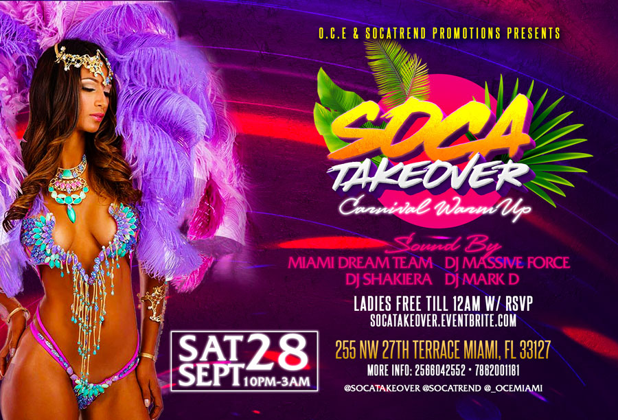 Soca Takeover: Carnival Warm Up