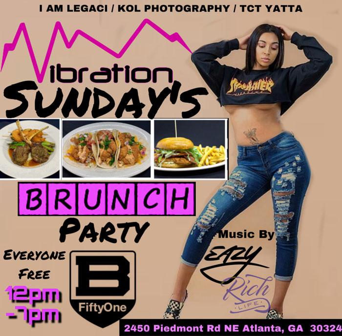 VIBRATIONS SUNDAYS Brunch & Day Party