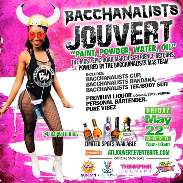Bacchanalists Jouvert - Atlanta Dekalb Carnival 2020