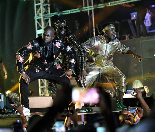 Bunji Garlin, Skinny Fabulous and Machel Montano