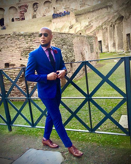 Caribbean menswear designer Ecliff Elie