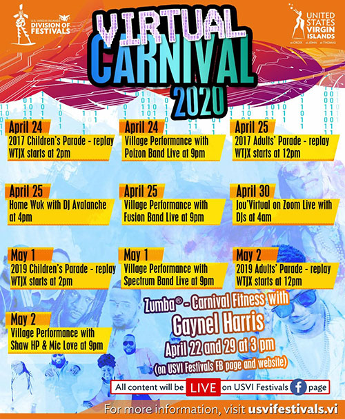 Division of Festivals announces expanded Virtual Carnival