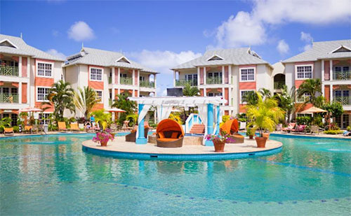 Poolside at Bay Gardens Beach Resort & Spa in St. Lucia