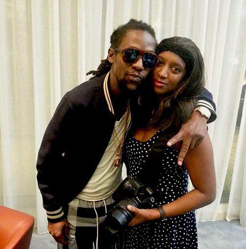 Trinidadian, Michelle George Bermudez with reggae artiste Jah Cure