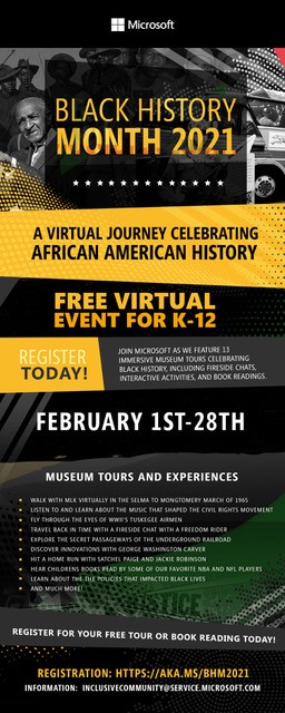 Microsoft Virtual Event - Black History Month 2021