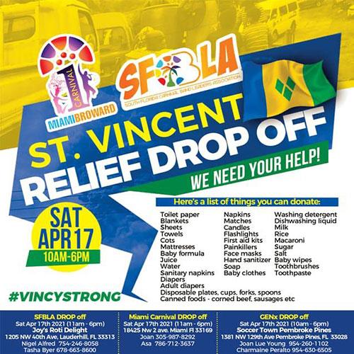 St. Vincent Relief Drop Off