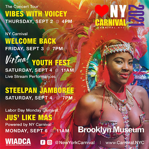 NEW YORK CARNIVAL 2021 - SCHEDULE OF EVENTS